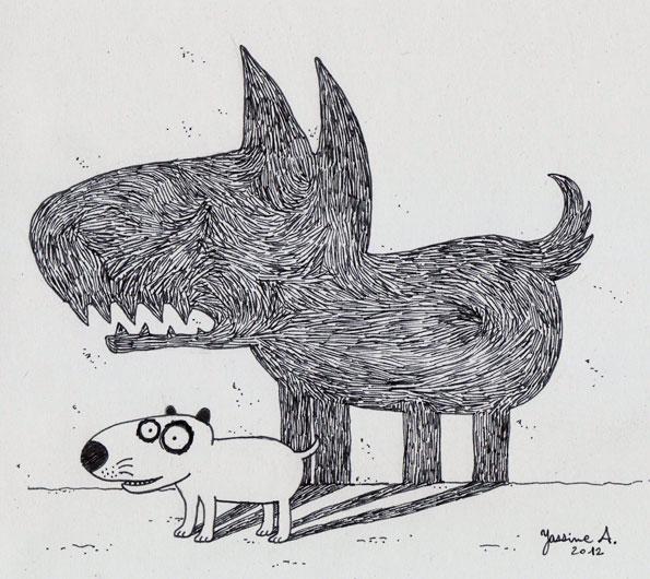 ombre-chien-mur