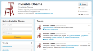 Compte Twitter @InvisibleObama