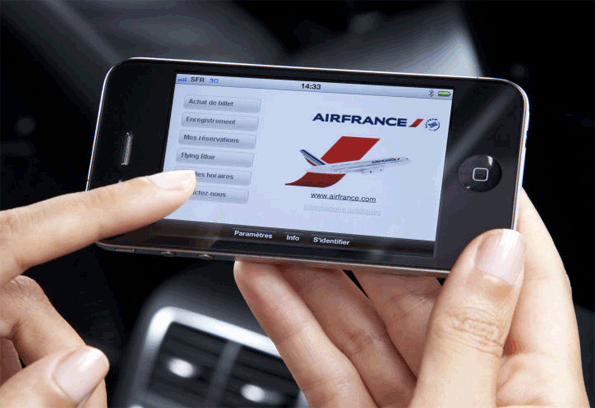 Presse Digitale: Air France sur iPhone
