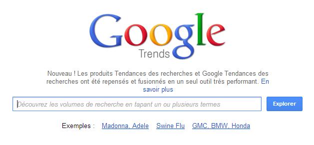 Google Trends: Tendances des recherches