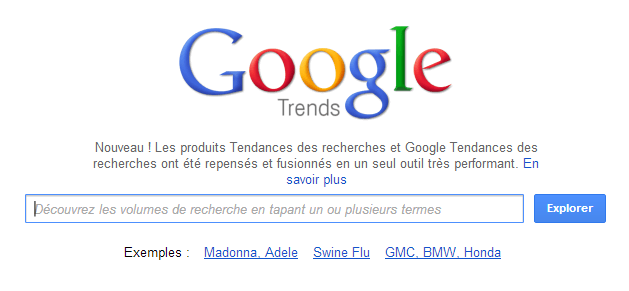Google modifie Google Trends et le fusionne avec...