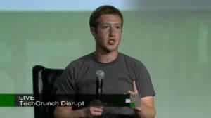 Moteur de recherche Facebook. Mark Zuckerberg à TechCrunch Disrupt