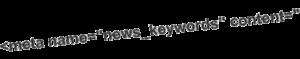 Balise META news_keywords pour Google News