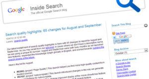 Améliorations classement Google août-septembre 2012