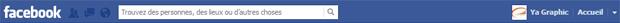 Facebook: barre de navigation actuelle