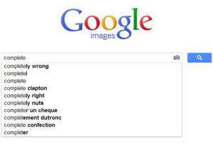 Suggestions mots clés Google images