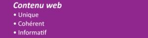 Contenu web: unique, cohérent, informatif et utile pour les internautes