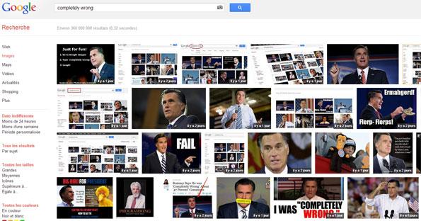 E-réputation Google: Mitt Romney