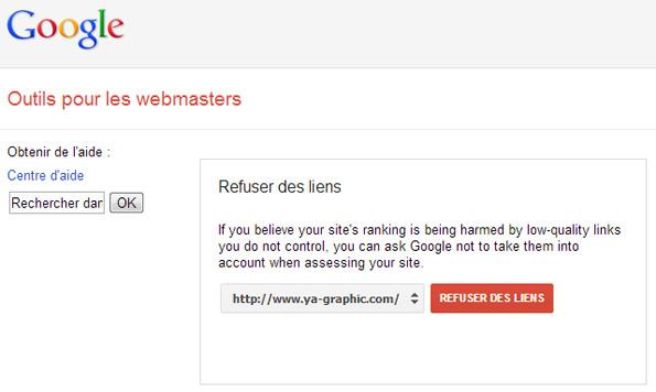 L'outil de Google pour désavouer des liens