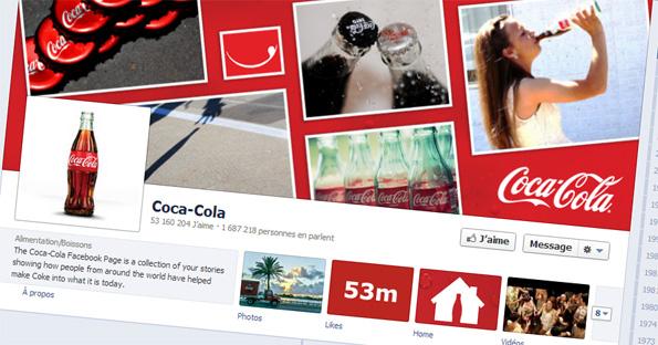 Nombre de fans de la page Facebook Coca-Cola