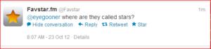 Bouton Favori Twitter remplacé par un bouton Star