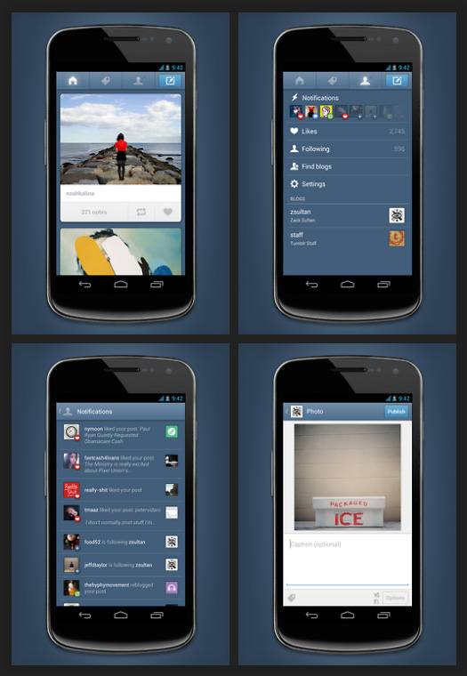 Améliorations application mobile Tumblr pour Android
