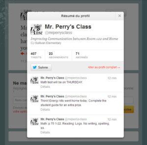 Twitter à l'école
