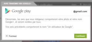 Google Plus intégré dans Google Play
