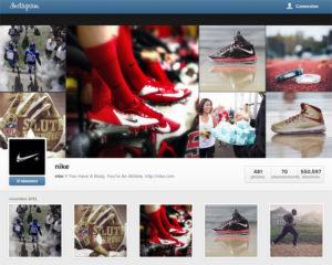 Profil web Instagram de Nike