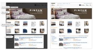 Exemple de page Amazon