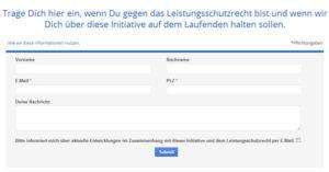 Pétition de Google en Allemagne pour inciter les utilisateurs à refuser le projet de loi visant à taxer le moteur de recherche.