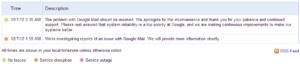 L'annonce de Google