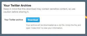 Télécharger archive Twitter
