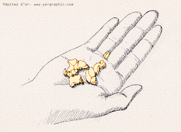Pépites d'or, une analogie avec le netlinking de qualité