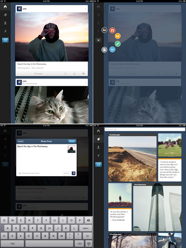 L'application Tumblr pour iPad est disponible