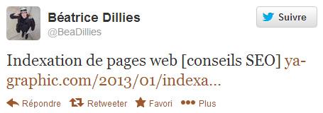 Béatrice Dillies sur Twitter