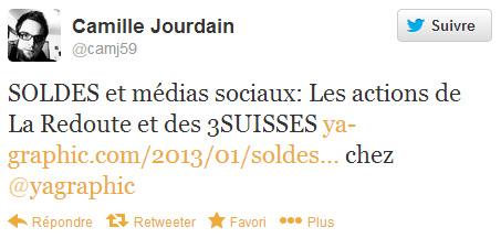 Camille Jourdain sur Twitter