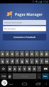 Application Pages Manager de Facebook, le gestionnaire de fan pages.