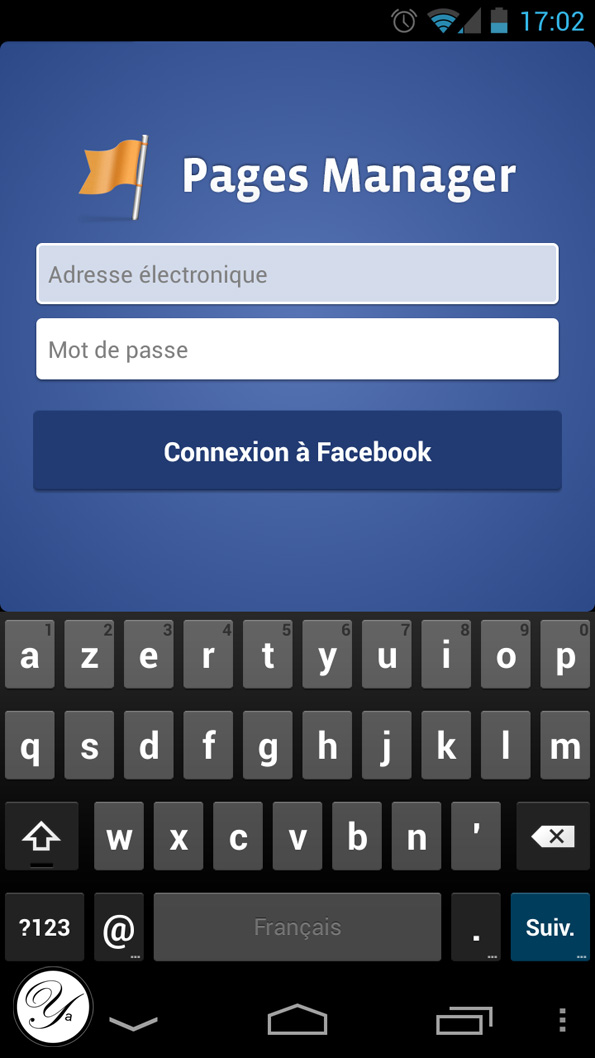Application Pages Manager de Facebook, le gestionnaire de fan pages.