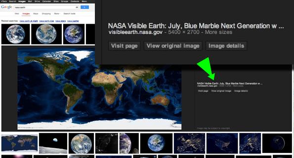 Le nouveau design de Google Images