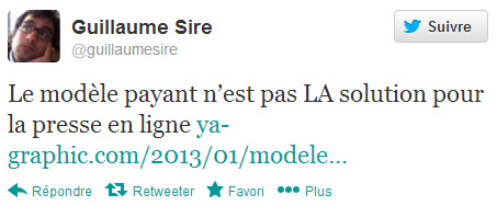 Guillaume Sire sur Twitter