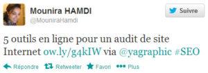 Mounira Hamdi sur Twitter