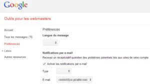 Léger bug de Google Webmaster Tools