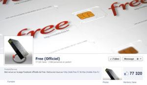 Page Facebook de Free