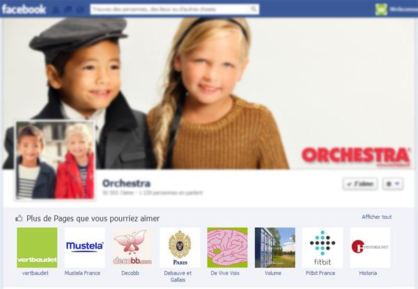 Orchestra dans Facebook