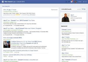 Résultats de recherche dans le graphe Facebook