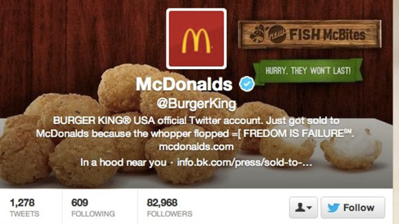 Compte Twitter de Burger King piraté