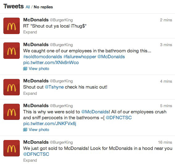 Compte Twitter piraté
