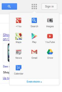 Nouveau menu de navigation de Google ?