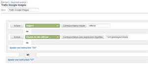 Segment avancé Google Analytics: Google Images et autres moteurs de recherche d'images