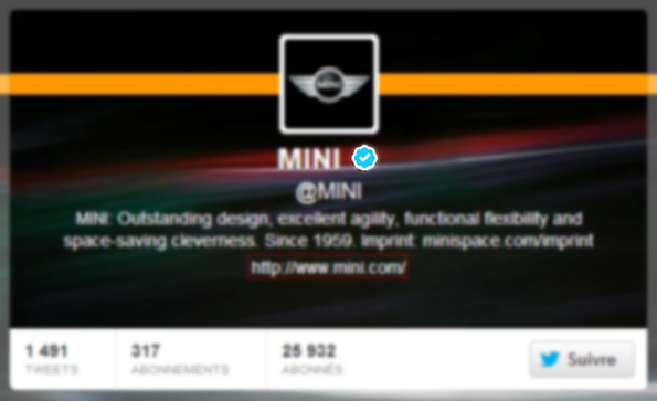 Badge Twitter de Mini (compte vérifié)