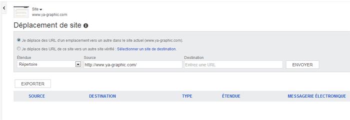 Bing Webmaster Tools: l'outil Déplacement de site