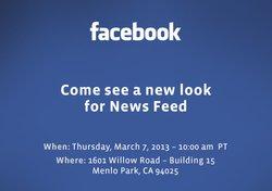 Invitation de Facebook à une conférence de presse