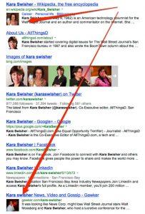 Les portraits d'internautes dans les résultats de recherche de Bing