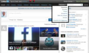 L'actuel moteur de recherche de LinkedIn