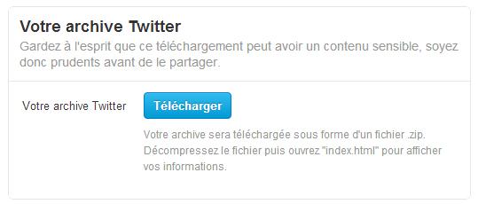 La sauvegarde d'archive Twitter disponible en France