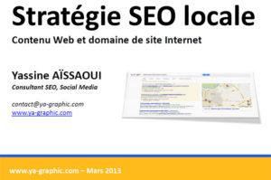 Stratégie SEO local et travail de contenu web