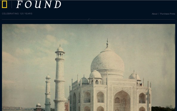 Taj Mahal, 1923 - Archive de National Geographic