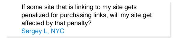 Matt Cutts: la valeur des liens sortants d'un site pénalisé par Google est annulée