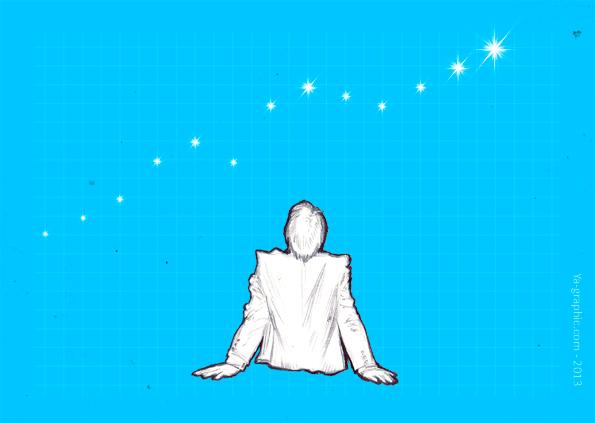 Référenceur devant ses statistiques en formes d'étoiles.